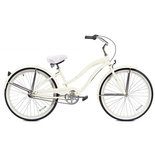 Micargi Rover NX3 Beach Cruiser Bike, White, 26-Inch