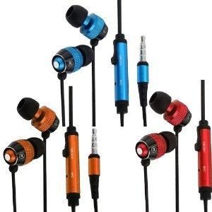 Importer520 3 Pack Combo In-Ear Earphone Earbud + Mic Compatible With Iphone 5 4S 4 3Gs Ipod Touch Samsung Galaxy S4 S3 S2 Nokia Lumia 920 Htc Onex Evo 4G Rhyme Droid Razr Maxx Google Nexus Lg Optimus G Blackberry Z10 Torch Compact Size Gps