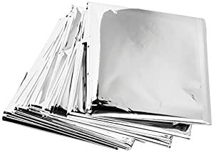 Quiverr QCMY10 Mylar Emergency Thermal Blankets (Pack of 10)