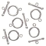 Silver Plated Toggle Clasps 12mm (5 Sets)