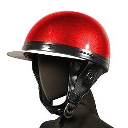 [ バイクパーツセンター ] ヘルメット 半帽(コルクタイプ)レッド KC-029L [ サイズ ] 57~60cm未満 [ 品番 ] 700109