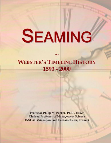 Seaming: Webster's Timeline History, 1593 - 2000