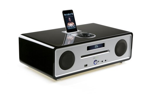 Black Vita Audio R4. CD, DAB/FM Radio with integrated iPod Dock.