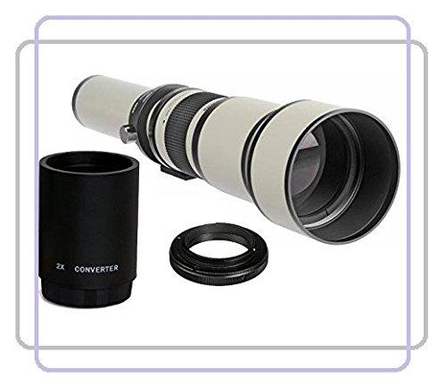 650-1300mm (2600mm) 1:8-16 Objektiv manueller Fokus Teleobjektiv (weiß) + 2x Konverter = 2600mm für Olympus PEN E-P1, E-P2, E-P3, E-P5, E-PL1, E-PL2, E-PL3, E-PL5, E-PL6, E-PL7, E-PM1, E-PM2, OM-D E-M1, E-M5, Mark II, E-M10 (MFT) Panasonic Lumix DMC, G1, G2, G3, G5, G6, G10, G6KK, GF1, GF2, GF3, GF3KK, GF3CK, GF5, GF5KK, GF5KR, GF5XR, GF6, GF6KK, GF7, GF7KK, GH1, GH1K, GH2, GH2KK, GH3, GH3K, GH4, GH4KBODY, GM1, GM1K, GM1KD, GM1KS, GM5, GM5KR, GX1, GX7, GX7KK, GX7K SLR-Systemkamera (Micro 4/3 Fou