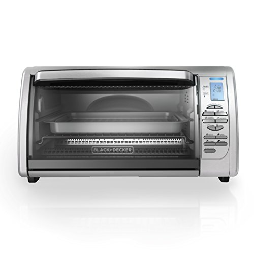 BLACK+DECKER CTO6335S 6-Slice Digital Convection Countertop Toaster Oven, Includes Bake Pan, Broil Rack & Toasting Rack, Stainless Steel Digital Convection Toaster Oven (Small Shop Oven compare prices)