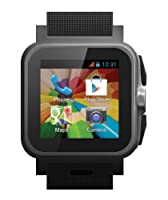 "Iconbit Callisto 100 Smartwatch - 3G/WCDMA (support 850Mhz), Dual Core 1.2GHz, 1.54"" IPS (240x240pix), 512MB/4GB, Wi-Fi, BT, GPS, FM, 3MP camera, stylus, And 4.2 by Iconbit"