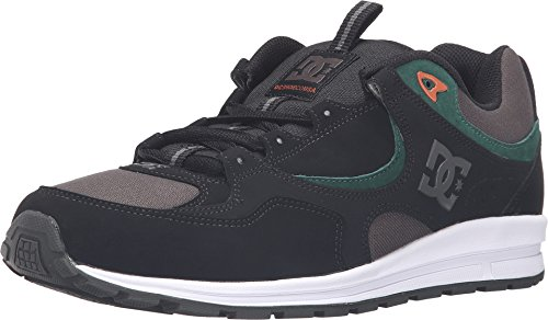 DC Men's Kalis Lite M Skate Shoe, Black/Green/Grey, 13 M US