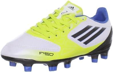 adidas F10 TRX FG Soccer Cleat (Little Kid/Big Kid),Running White/Black/Lab Lime,3.5 M US Big Kid