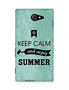 Amez Keey Calm and Enjoy Summer Back Cover For Sony Xperia M2 D2302