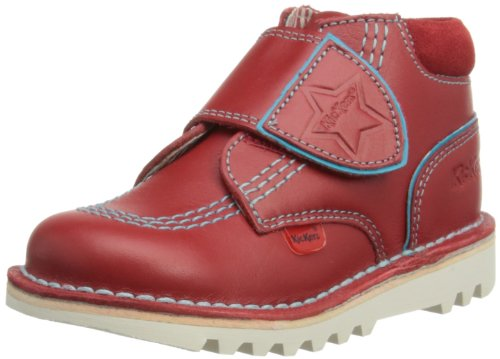Kickers Boys Kick Hi Champ Boots 112653 Red/Light Blue 6 UK Child, 23 EU