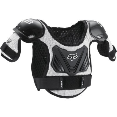 Fox Racing  Titan Pee Wee Roost Deflector Youth Medium/Large (ages 5-7) Black/Silver