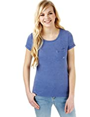 Angel Longline T-Shirt with Linen