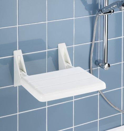 Wenko 17937100 sedile da box doccia ribaltabile secura portata 120 kg pieghevole - Accessori bagno plexiglass amazon ...