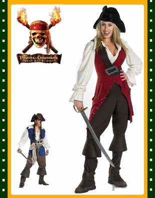 Dlx Pirates of the Caribbean Elizabeth Adults Costume - Available in Tween