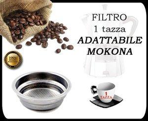 FILTRO PER MOKONA BIALETTI GAGGIA G107 NUOVO 1 TAZZA CAFFETTIERA ESPRESSO