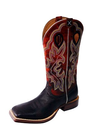 Twisted Boots Western MRSL019 Nicotine