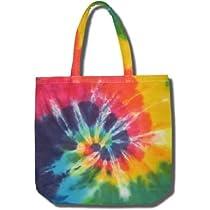 Tie Dye Mania Rainbow Swirl Canvas Eco-Friendly Grocery Tote Bag - One Size