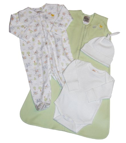 HALO 4-Piece Take-Me-Home Set - Sage, Newborn