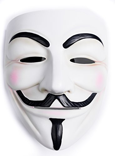 Guy Fawkers V for Vendetta Mask White Resin Adult Masks Cosplay Holloween