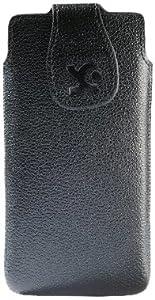 Suncase Original Echt Ledertasche für Samsung Galaxy S4 i9500 (i9505 LTE Version) vollnarbig-schwarz