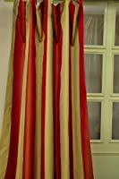 Faux silk hampton curtain(cream & orange)(52