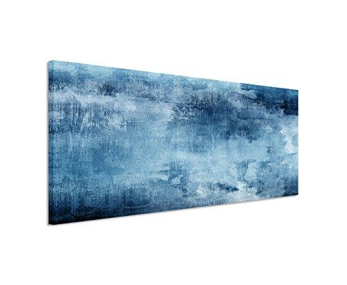 150x50cm wandbild farbe blau petrol panoramabild - Wandbild petrol ...