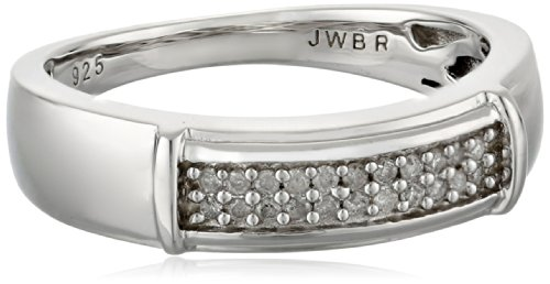 Sterling Silver Diamond Men's Ring (1/6 cttw, I-J Color, I2-I3 Clarity), Size 10