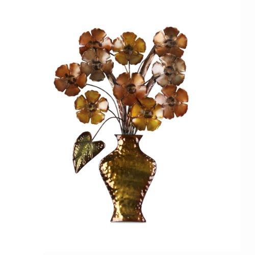 Elements Flower Vase Metal Wall Decor