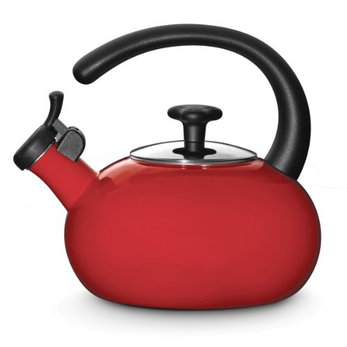Rachael Ray Teakettles 1-1/2-Quart Whistling, Red