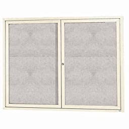 Aarco Products ODCC4872RIV Outdoor Enclosed Bulletin Board - Ivory