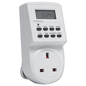 Electronic digital mains Timer Socket Plug-in with LCD Display 12/24 Hour 7 Days
