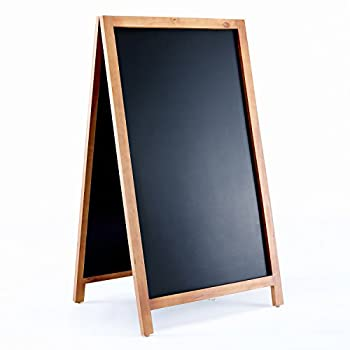 "Vintage Wooden Magnetic A-Frame Chalkboard 42""x24"" Restaurant Bar Sign Indoor Outdoor by VersaChalk"