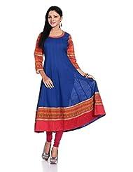 Inara Robes Royal Blue Anarkali Kurta