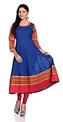 Inara Robes Royal Blue Anarkali Kurta
