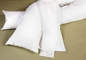 Pillowcase for Comfort U Body Pillow, Navy Lightweight Fleece