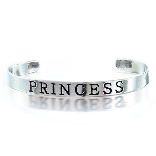 Bling Jewelry 925 Sterling Silver Princess Childrens Jewelry Kids Bangle Bracelet