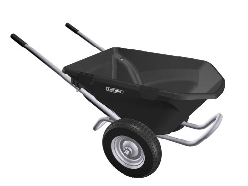 Lifetime 65034 Two Wheel Wheelbarrow, 6.5 Cubic Feet Capacity (Wheelbarrow Dual Wheel compare prices)