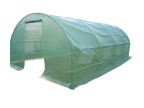 6M(L) x 3M(W) x 2M(H) Polytunnel Greenhouse Pollytunnel Poly Polly Tunnel Fully Galvanised Anti Rust Steel Frame
