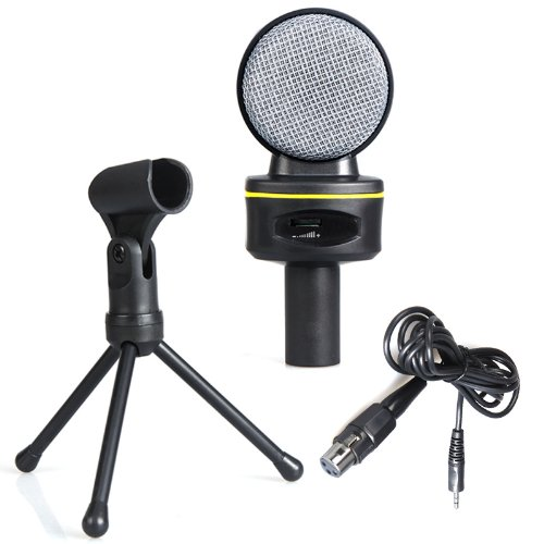 Docooler 3.5Mm Wired Condenser Microphone Mic With Tripod For Pc Laptop Computer Skype Msn Karaoke