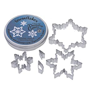 Snowflake Cookie Cutters, Set of 5
