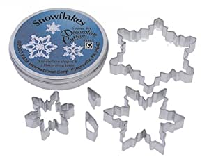 R&M Snowflake Cookie Cutters, Set of 5
