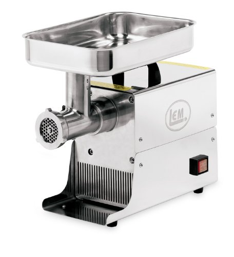 Lem Stainless Steel Electric Meat Grinder, 5-Pound