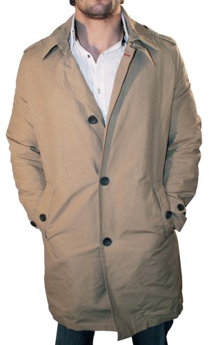 TOMMY HILFIGER Performance Lined Rain Trenchcoat Mens Jacket