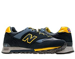 New Balance - Mens Rain Mac 577 Shoes, Size: 9 D(M) US, Color: Midnight Navy With Yellow & Blue
