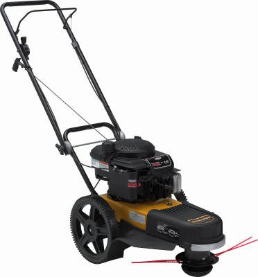 Poulan Pro PPWT62522 22-Inch-Wide Cut Wheeled String Trimmer with 12-Inch High Rear Wheels and 6 HP Engine