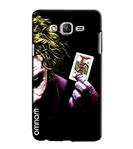 Omnam Mask Joker Playing With Cards Printed Designer Back Cover Case For Samsung Galaxy On 5