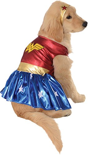 Wonder Woman Deluxe Dog Costume Multicolor Large DC Comics Adult