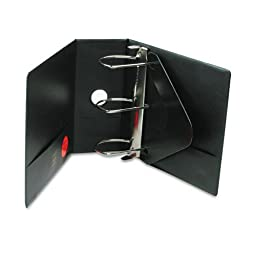 Wilson Jones : Heavy-Duty No-Gap D-Ring Binder with Label Holder, 5quot; Capacity., Black -:- Sold as 2 Packs of - 1 - / - Total of 2 Each
