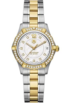 TAG Heuer Women's WAF1350.BB0820 Aquaracer Two-Tone Diamond Accented Watch