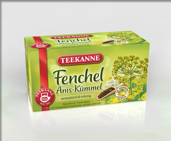 Teekanne Fenchel Anis-Kümmel (Fennel Anise-Caraway) / 2X 20 Tea Bags Fresh + Direct German-Import